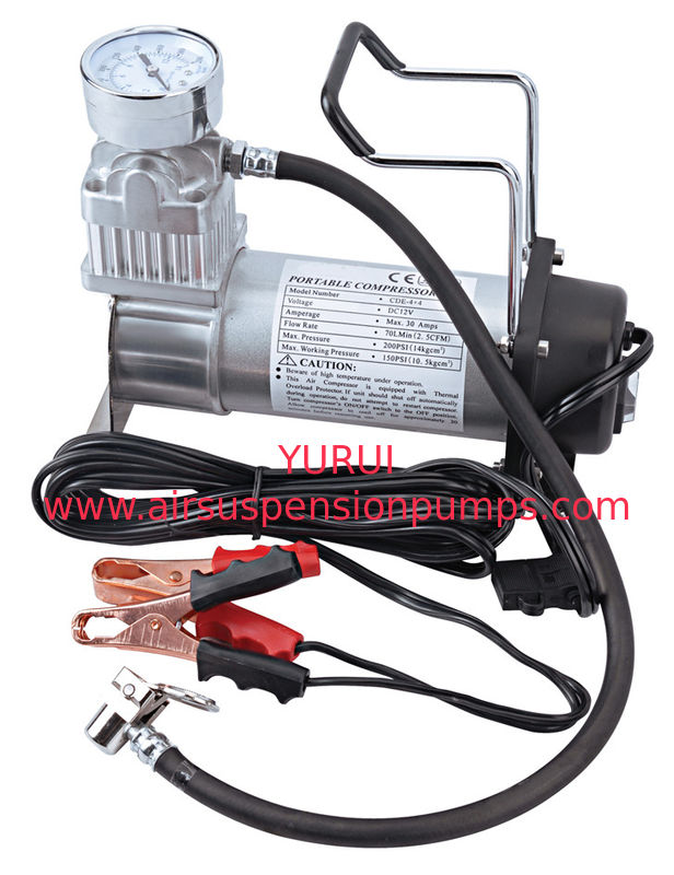 Single CyliderMetal Air Compressor For The Tire Inflation And Boat And Ball 12V