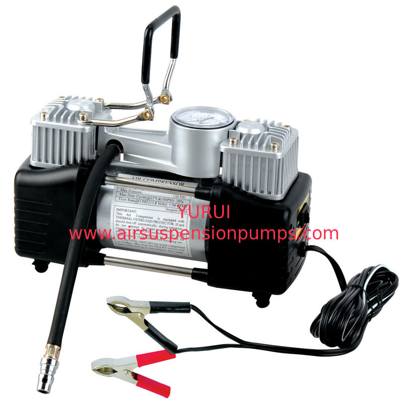 Two Cylinder Heavy Duty Metal Air Compressor For Car Tire Inflation