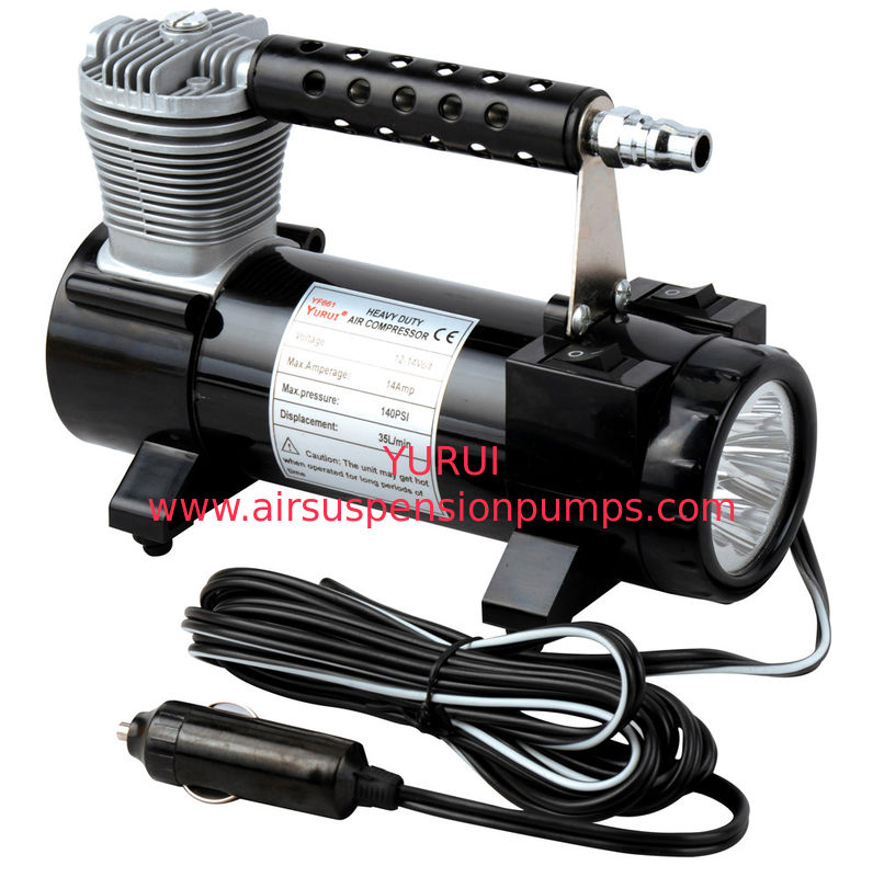 2 In 1 Portable Metal Single Cylinder Air Compressor With Light  / Bag And Hose