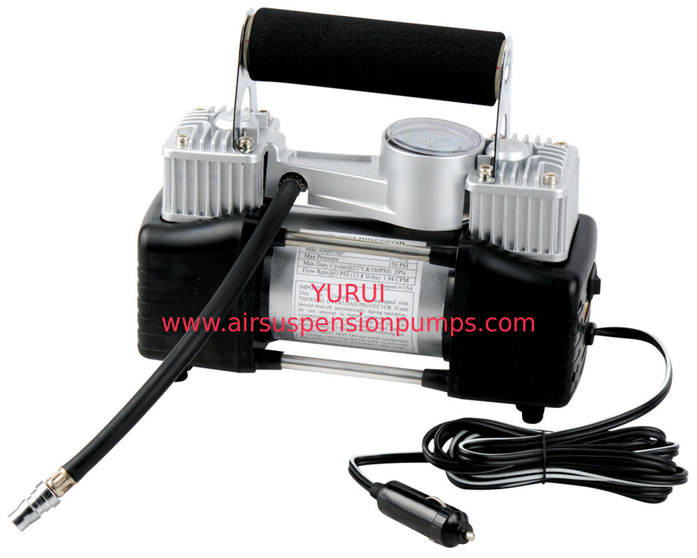 DC 12V 150 PSI Black And Silver Metal Air Compressor For Strong Power And Fast