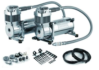 12V Dual do compressor de aço da suspensão do passeio do ar de 200 libras por polegada quadrada compressor de ar duplo do tanque
